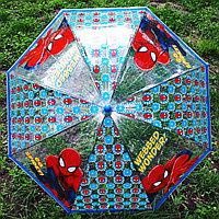"""Детский прозрачный зонт-трость """"Человек Паук"""", фото 1"""