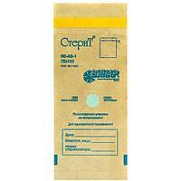 Крафт пакет для стерилизации 100х200/75х150 см с индикатором стерильности