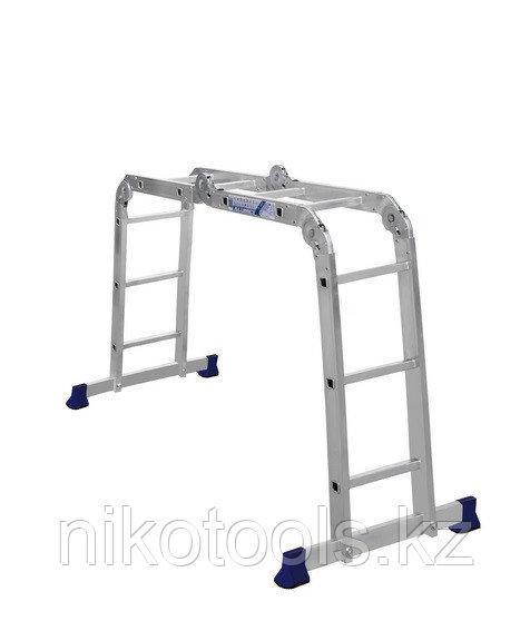 Алюминиевая лестница шарнирная (2x2+2x3), Н=1,49/2,97м (ТL4023)