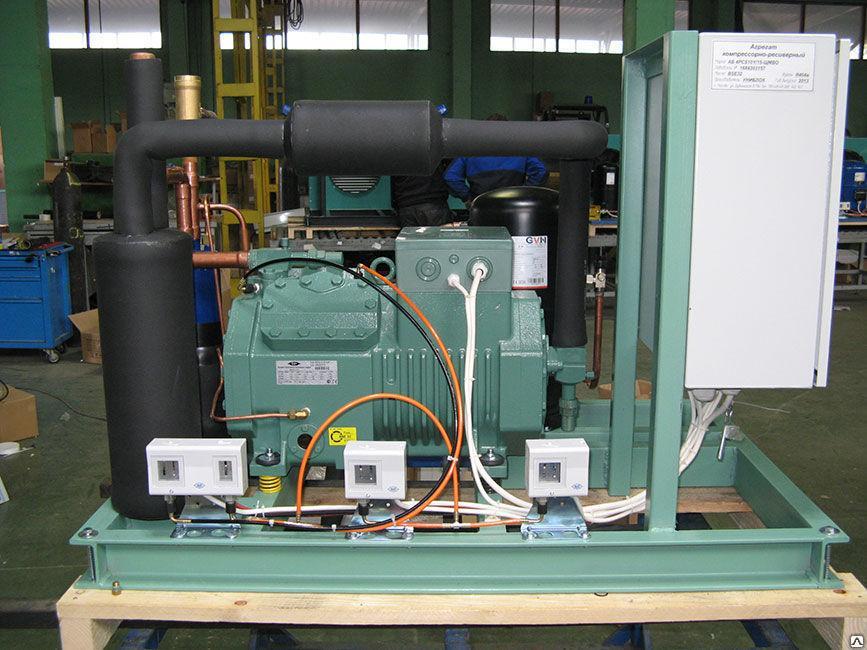 Агрегат двухкомпрессорный среднетемпературный Bitzer КС 2х2CES4Y