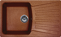Мойка из искусственного камня Gran-Stone GS-12 307 терракот, фото 1