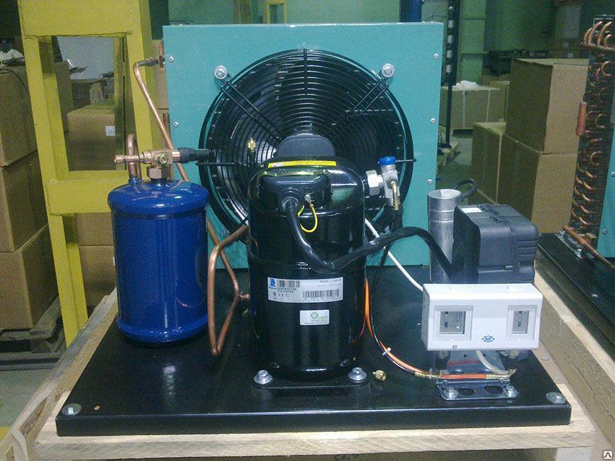 Четырехкомпрессорный среднетемпературный агрегат Tecumseh Scroll КС 4хVSA95