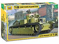 Советский средний танк Т-28 Сборная модель, фото 1