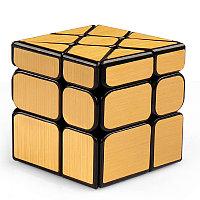 Головоломка - Зеркальный кубик-колесо, золотой
