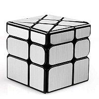 Головоломка - Зеркальный кубик-колесо, серебряный