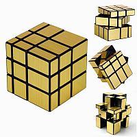 Головоломка - Зеркальный кубик 3x3x3, непропорциональный, золотой