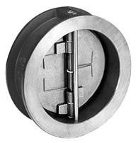 Клапан обратный межфланцевый Danfoss NVD 805  - Ду350 (ф/ф, PN16, Tmax 80°C, затворки из бронзы)