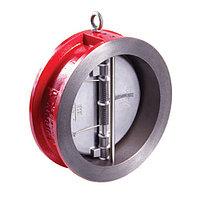 Клапан обратный межфланцевый RUSHWORK - Ду100 (ф/ф, PN16, Tmax 110°C, затворки нерж.сталь)