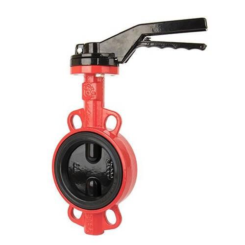 Затвор дисковый поворотный RUSHWORK 200 - Ду200 (PN16, Tmax 110°С, ручка-рычаг)