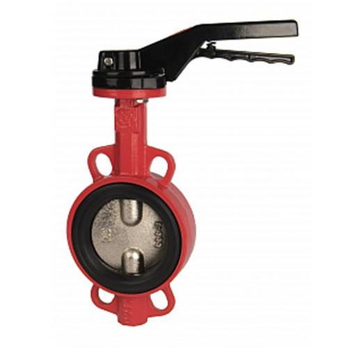 Затвор дисковый поворотный RUSHWORK 201 - Ду80 (PN16, Tmax 110°С, ручка-рычаг)