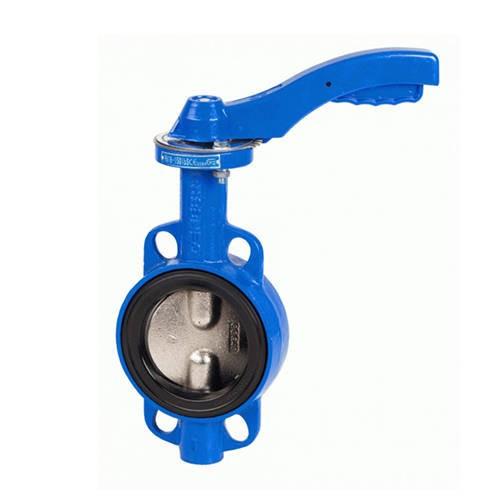 Затвор дисковый поворотный GENEBRE 2103 - Ду100 (PN16, Tmax 120°С, ручка-рычаг)