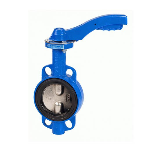 Затвор дисковый поворотный GENEBRE 2103 - Ду80 (PN16, Tmax 120°С, ручка-рычаг)