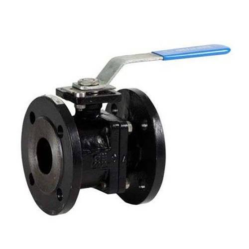 Кран шаровой полнопроходной GENEBRE 2525 - Ду100 (ф/ф, PN16, Tmax 180°С, ручка-рычаг, цвет синий)