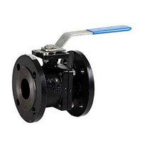 Кран шаровой полнопроходной GENEBRE 2525 - Ду200 (ф/ф, PN16, Tmax 180°С, ручка-рычаг, цвет черный)