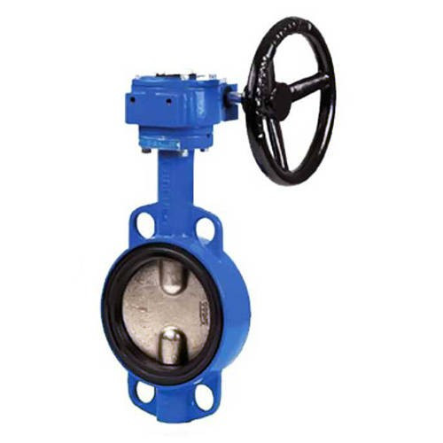 Затвор дисковый поворотный GENEBRE 2103 - Ду450 (PN10, Tmax 120°С, c редуктором)