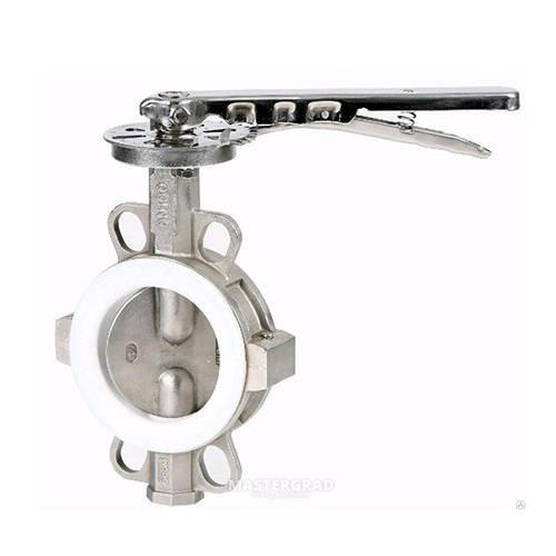 Затвор дисковый поворотный GENEBRE 2104 - Ду65 (PN10, Tmax 120°С, ручка-рычаг)