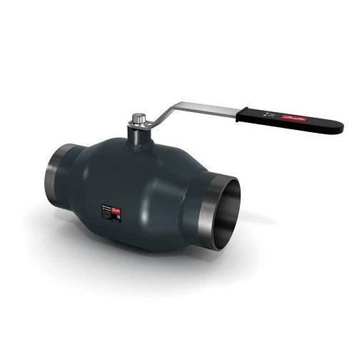 Кран шаровой Danfoss JiP Standard WW - Ду100 (Сварка/Сварка, PN16, Tmax 150°С, ручка-рычаг черная)