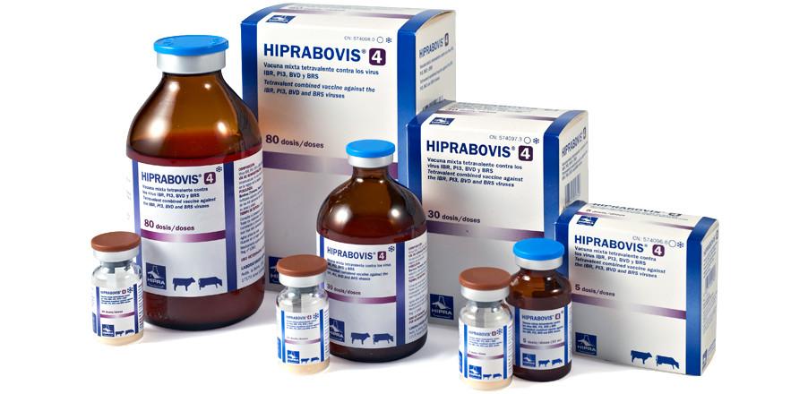 Вакцинадля КРС Хипрабовис-4