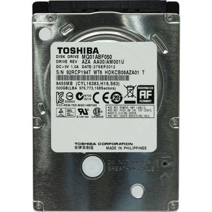 "Жесткий диск для ноутбука HDD 500Gb Toshiba, 5400rpm, 2.5"", 8Mb, фото 2"