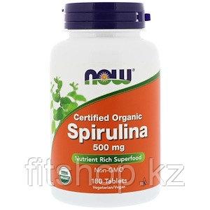 Сертифицированная натуральная спирулина, 500 мг, 180 таблеток