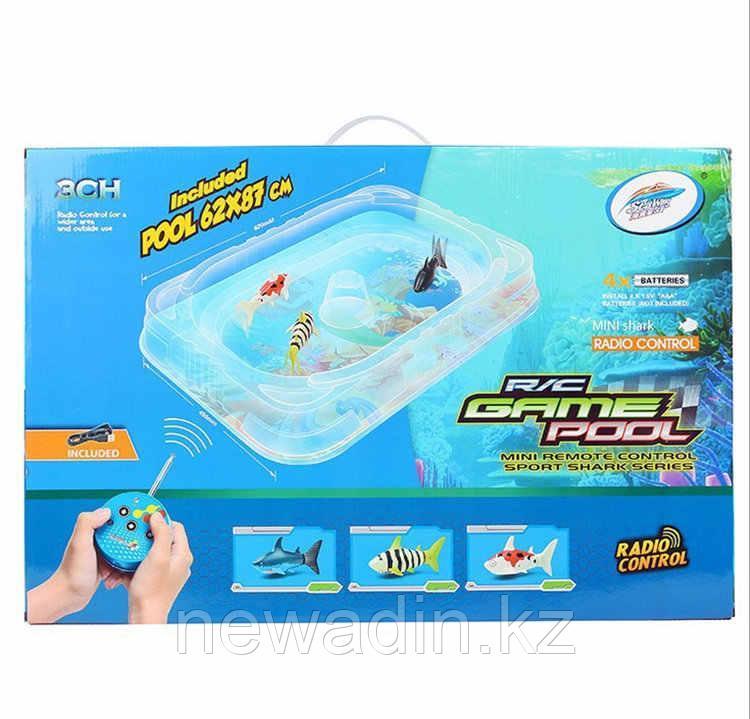 Игровой набор из 2 радиоуправляемых акул с бассейном - фото 2