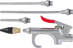 Пистолет продувочный с насадками в наборе, 5 предметов ABGK5