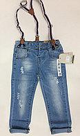 Легкие джинсики ZARA kids с подтяжками.
