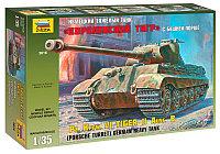 Сборная модель Танк «Королевский тигр» с башней «Порше» 1\35, фото 1