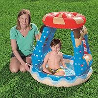 """Детский надувной бассейн """"Конфет"""" с надувным навесом 91х89 см , Bestway 52270"""