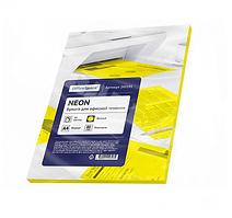 Бумага цветная OfficeSpace Neon, А4, 80 г/кв.м., 50 л., желтая