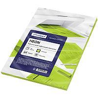 Бумага цветная OfficeSpace Neon, А4, 80 г/кв.м., 50 л., зеленая