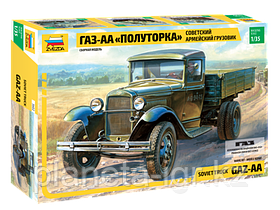 """Советский армейский грузовик """"Полуторка"""" (ГАЗ-АА) Сборная модель 1\35"""