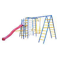 Спортивно-игровой комплекс Kampfer Total Playground, шведские стенки 2, рукоход, канат, качели, горка, турник