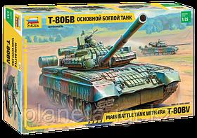 Сборная модель Основной боевой танк Т-80БВ, 1\35