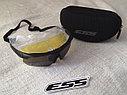 Тактические очки ESS с 3 сменными линзами в чехле, фото 7