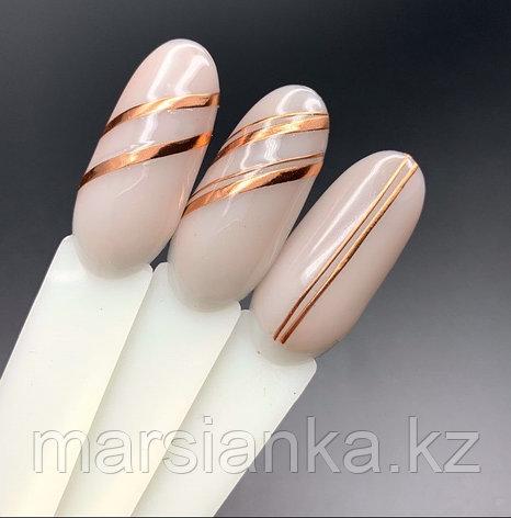Эластичные полоски для дизайна Monami (розовое золото), фото 2