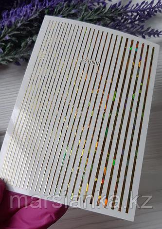 Эластичные полоски для дизайна Monami (золото AB), фото 2