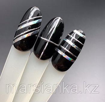 Эластичные полоски для дизайна Monami (серебро АВ)