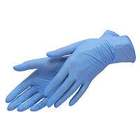 Перчатки нитровинил, неопудренные 100 шт/упак (UN) голубой XS