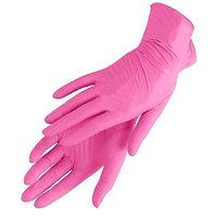 Перчатки нитровиниловые, неопудренные 100 шт/упак (UN) розовые M