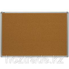 Доска пробковая 100 см х 150 см, алюминиевая рамка