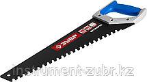 Ножовка по пенобетону (пила) БЕТОНОРЕЗ 500 мм, шаг 20 мм, 23 твердосплавных резца,ЗУБР, фото 3