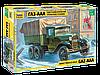 Советский армейский трехосный грузовик (ГАЗ-ААА), сб модель, 1:35