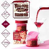Elizavecca Двухсторонние пилинг-пады с экстрактом красного вина Hell-Pore Perfect Wine Sparkling Peeling Pad, фото 3