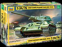 Советский средний танк Т-34/76 (обр. 1942 г.), сб модель, 1:35, фото 1