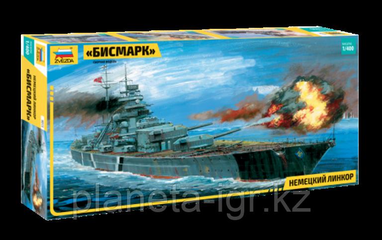 """Немецкий линкор """"Бисмарк"""", сб модель, 1:400"""