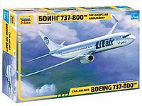 Пассажирский авиалайнер Боинг 737-800™, сборная модель, 1:144, фото 1