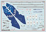 Пассажирский авиалайнер Аэробус А-321, сборная модель, 1\144, фото 8