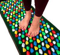 Дорожка для массажа стоп с камнями «Морская галька» MASSAGE ROAD (Разноцветная)