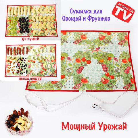 Сушилка-коврик электрическая для овощей и фруктов «Мощный Урожай» (55 х 33 см)
